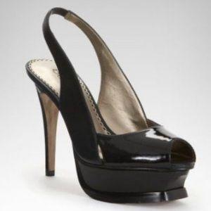 Bebe Zahara Patent Stiletto High Heel Shoes